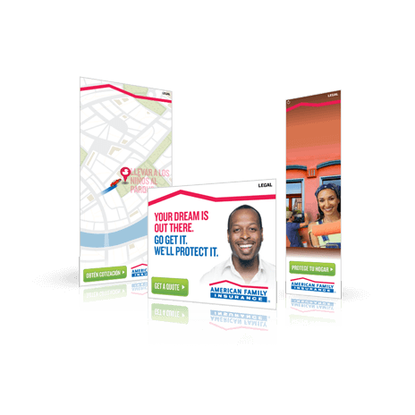 American Family Digital Ad Banner Development by Side Six