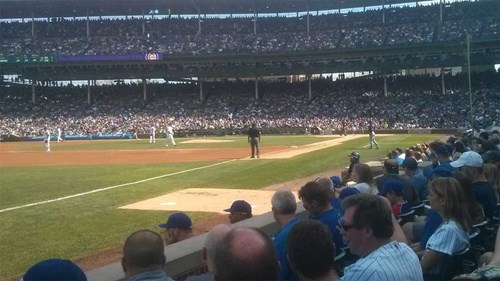 Side Six at Wrigley Field for 2015 Cubs Game